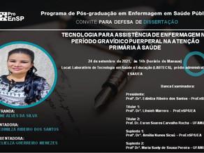 Defesa de Dissertação: Mestranda Simone Alves da Silva