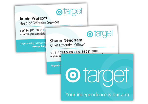 Target Housing Business Card Design