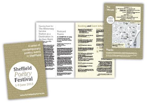 Sheffield Poetry Festival Programme Design