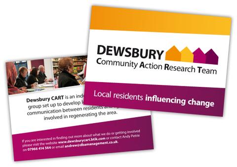 Dewsbury CART Postcard Design