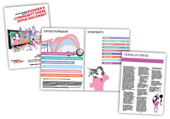 Sheffield Community Media Brochure Design