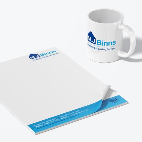 M J Binns Logo Design