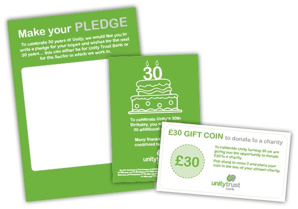 Unity Trust Bank Leaflet Designs
