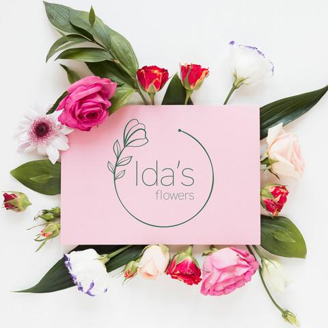 Ida's Flowers Logo Design