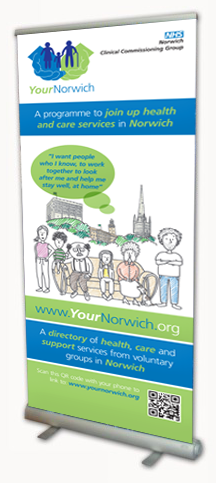 Your Norwich Roller Banner Design