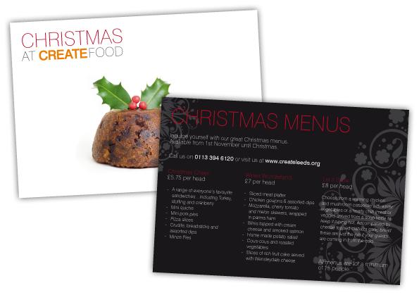 CREATE Food Postcard Design
