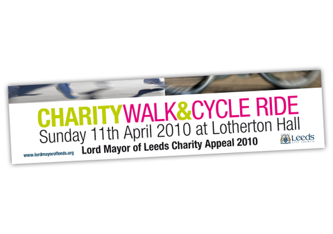 Leeds Council Charity Banner Design