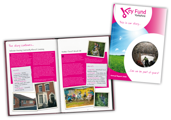Key Fund Yorkshire Annual Report Booklet Design