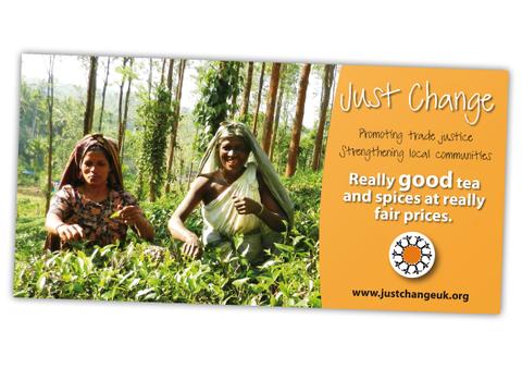 Just Change Tea Poster Design