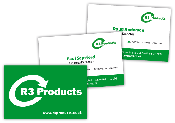 R3 Products Business Card Design