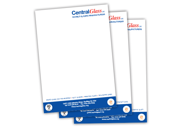Central Glass Letterhead Design