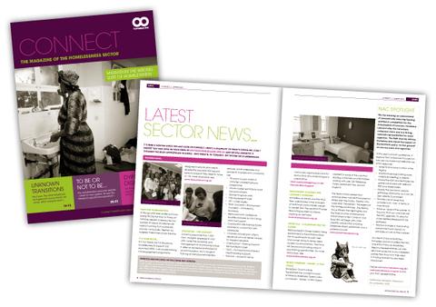 Homeless Link Connect Magazine Design