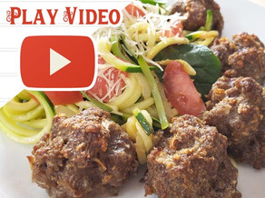 Pork Rind Meatballs & Zucchini Noodles - Southern Recipe Small Batch