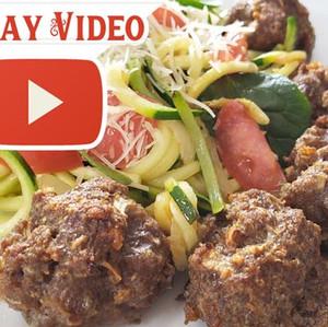 Pork Rind Meatballs & Zucchini Noodles - Southern Recipe Small Batch