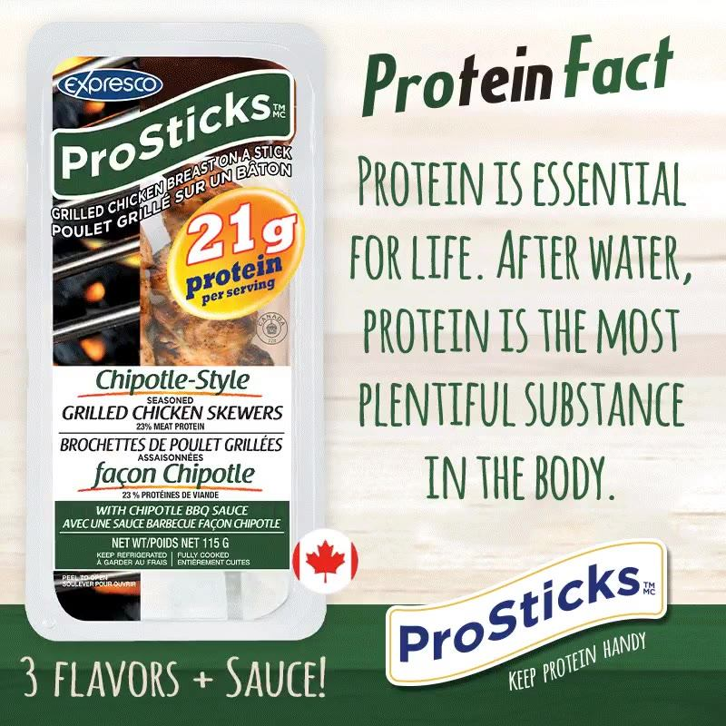 ProSticks and 20+ grams of protein!