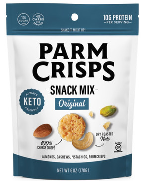 ParmCrisps, Launches Protein-Packed, Keto Snack Mix