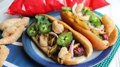 Spicy Hawaiian Pork Rind Dog