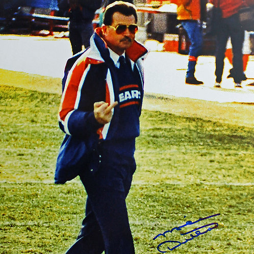 Autographed Coach Ditka Photo