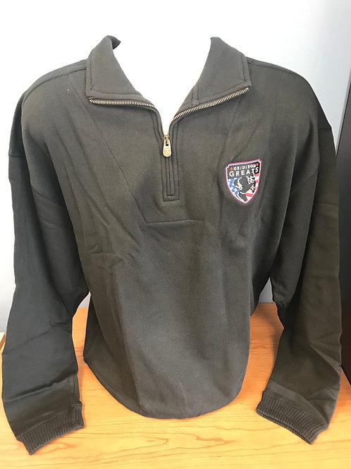 Black Gridiron Greats Quarter Zip Sweatshirt