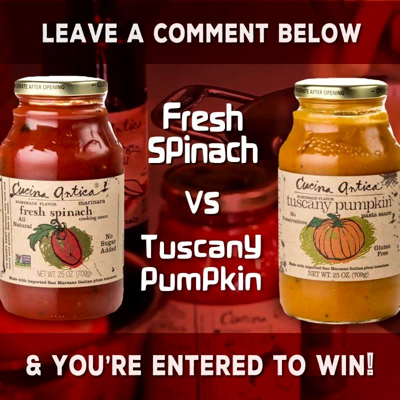 Fresh Spinach vs. Tuscany Pumpkin