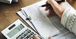 Accountant preparing financial statements