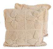 fair trade crochet pillows