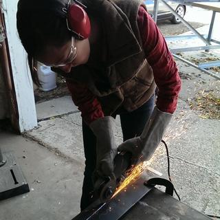 In progress table fabrication