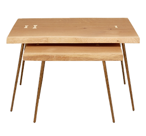 eco friendly wood nesting tables