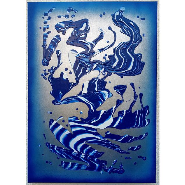 Blue in motion 50x70