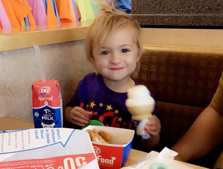 Happy Boy with Dairy Queen Ice Cream