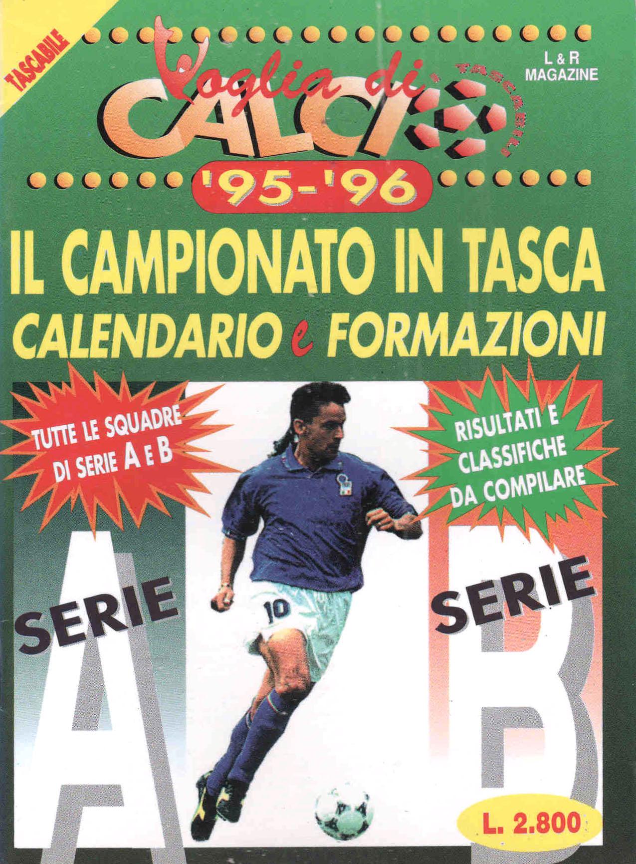 CALENDARIO DA TAVOLO 1995-1996