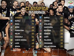 Serie A 35ª giornata. La Juventus è campione d'Italia