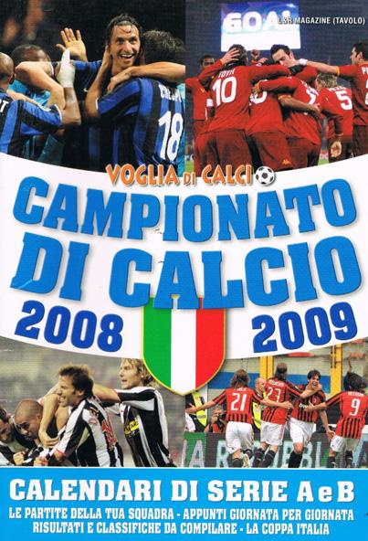 CALENDARIO DA TAVOLO 2008-2009