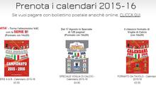 Prenota i calendari 2015-16