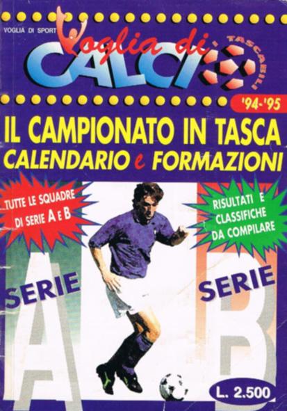 CALENDARIO DA TAVOLO 1994-1995