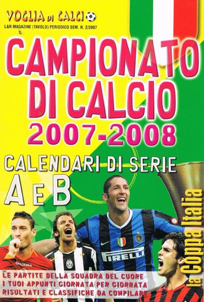 CALENDARIO DA TAVOLO 2007-2008