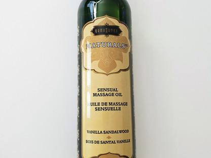 """Huile de massage sensuelle de la marque """"kamasutra"""" gamme """"Naturals"""" Bois de san"""