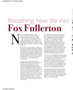 Fox Fullerton Theater pg. 1