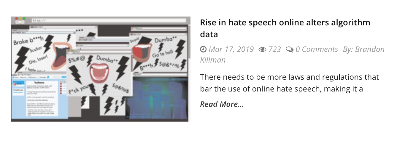https://dailytitan.com/2019/03/internets-rise-hate-speech-alters-algorithm-data-tool/