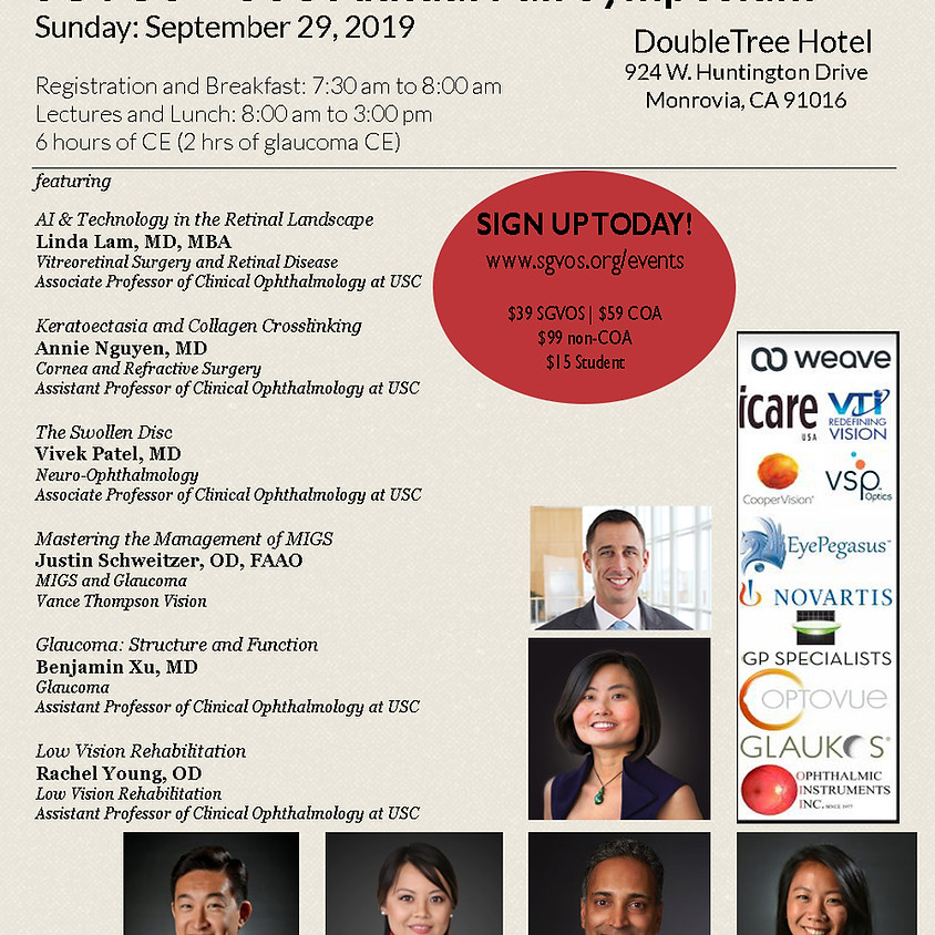 SGVOS + USC Annual Fall Symposium