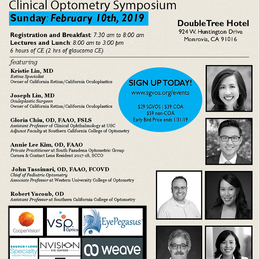 Clinical Optometry Symposium - 2019