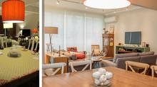 Antes e Depois - Repaginada na Sala da Família
