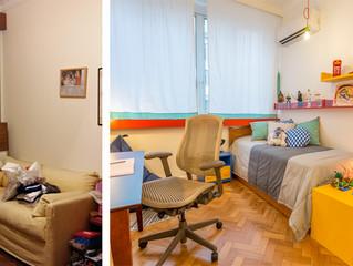 Antes e Depois - Quartos das crianças