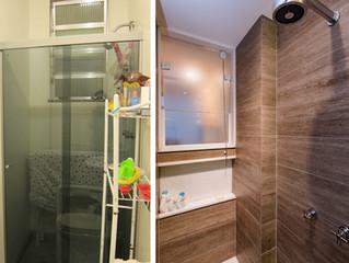 Antes e Depois - Banheiros