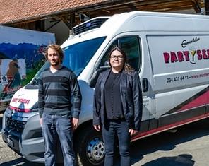 Denise & Lukas, die Besitzer vom Emmental Partyservie