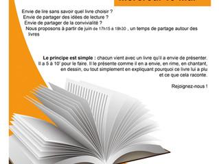 """Les ateliers """"idée lecture"""" Mensuels sont repartis ! demandez les dates !"""