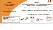 """Atelier """"3' pour convaincre"""" le 19 février 2019"""