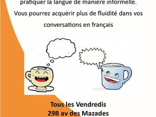 Besoin de pratiquer le Français ? Venez converser !