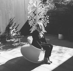 Jenn enjoying the sun!