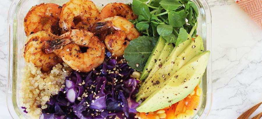 Shrimply the Best Avocado Grain Bowl